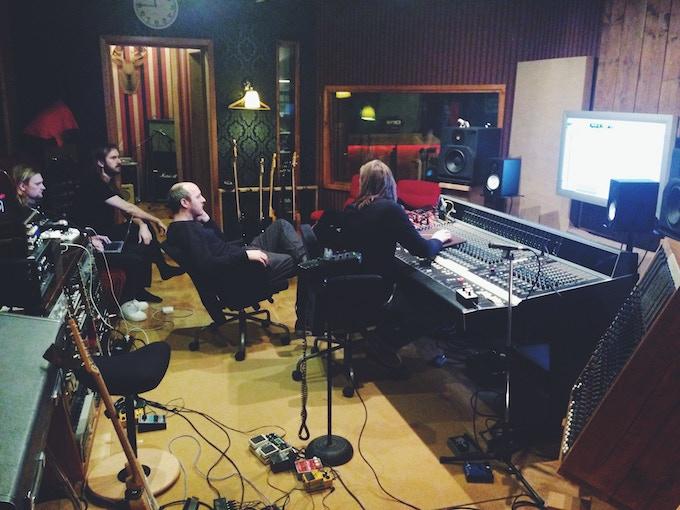 Recording session of Hibernation at Zoo Studios (Tuscany, Italy 2014)