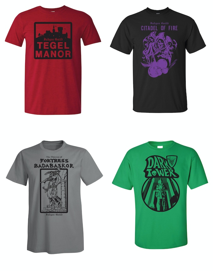 Awesome new tees produced for this Kickstarter!