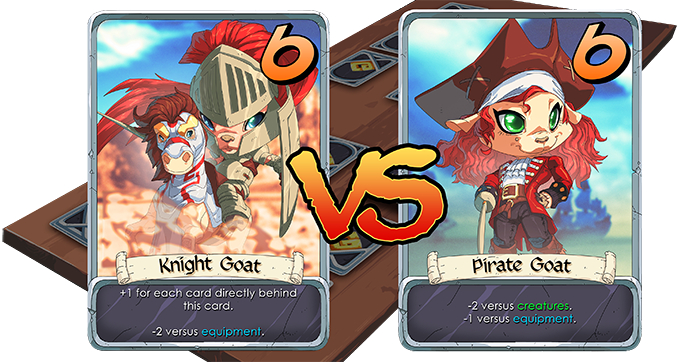 It's a tie! Both cards are discarded.