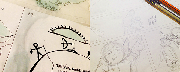 Roughs and development.
