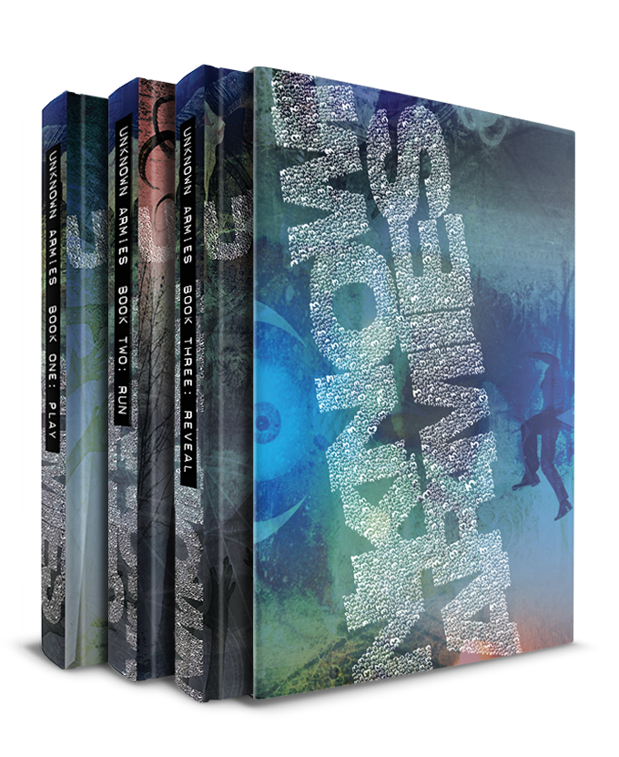 Three books enclosed within a slipcase that unwraps to form a GM screen and reference.
