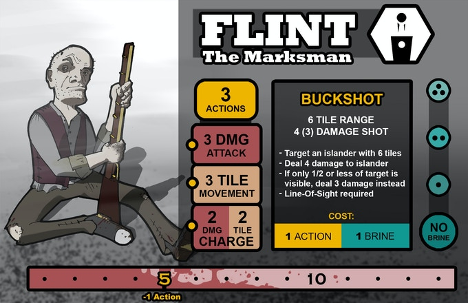 Flint's final card image.  Find out more about him at ForlornTheGame.com