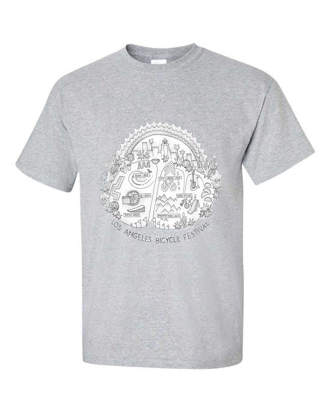 Grey 'map' T-shirt