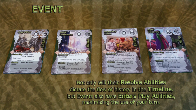 Because Events have Enters Play Abilities, as well as Resolve Abilities, they are a powerful use of your turn.