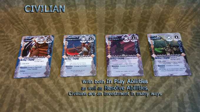 Civilians are a very flexible card type.