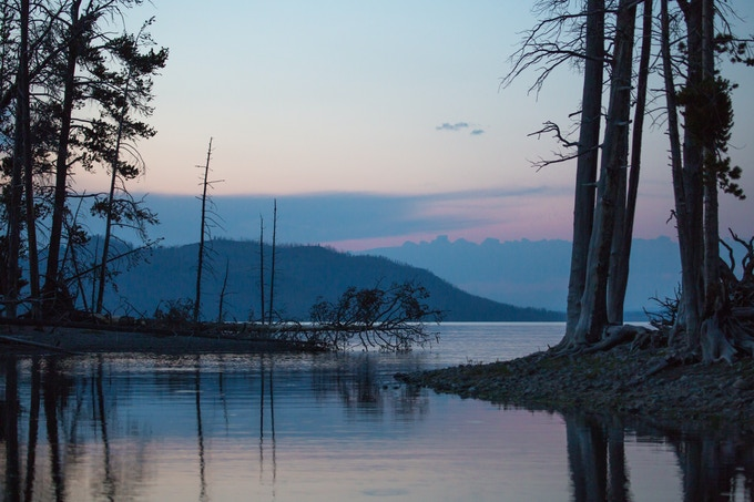 Southeast arm of Yellowstone Lake. Image courtesy of Yellowstone National Park.