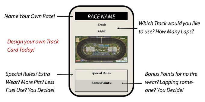 DESIGN YOUR OWN TRACK CARD! WITH OUR TRACK CARD REWARD PACKAGE!