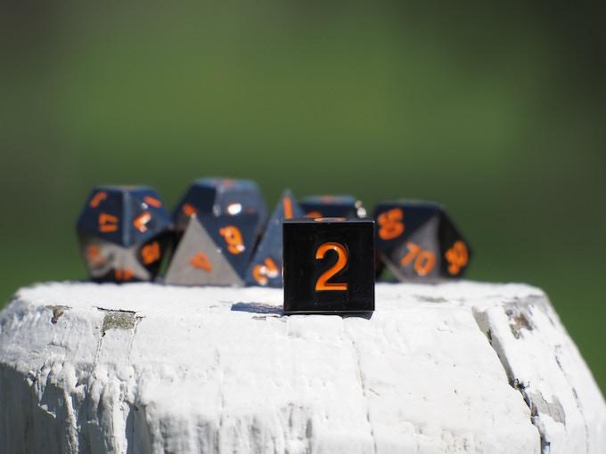 Gunmetal With Orange Numbers