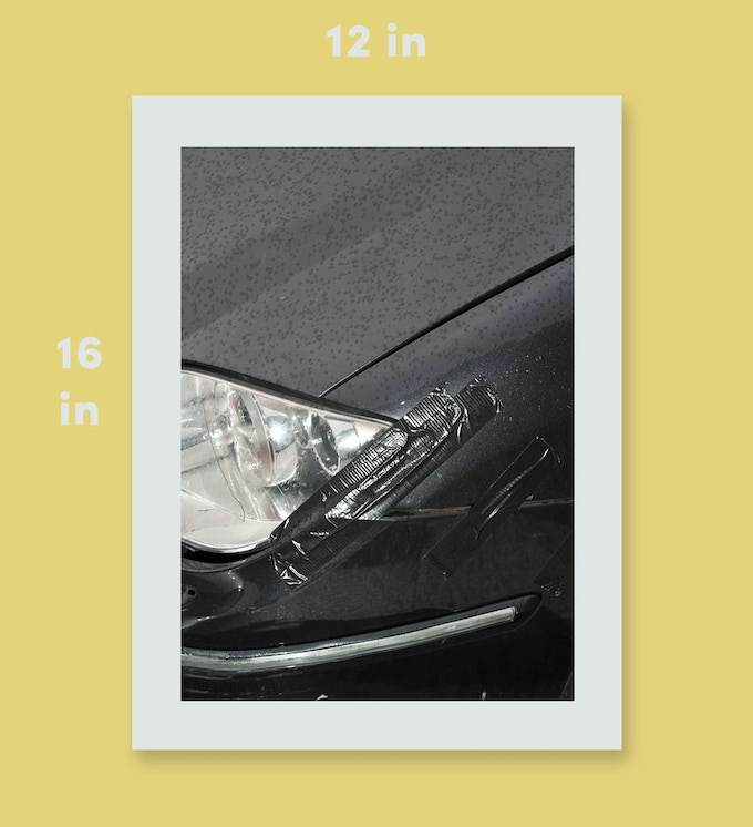 "Badly Repaired Cars print. 12x16"", inkjet on fine art paper, edition of 50"