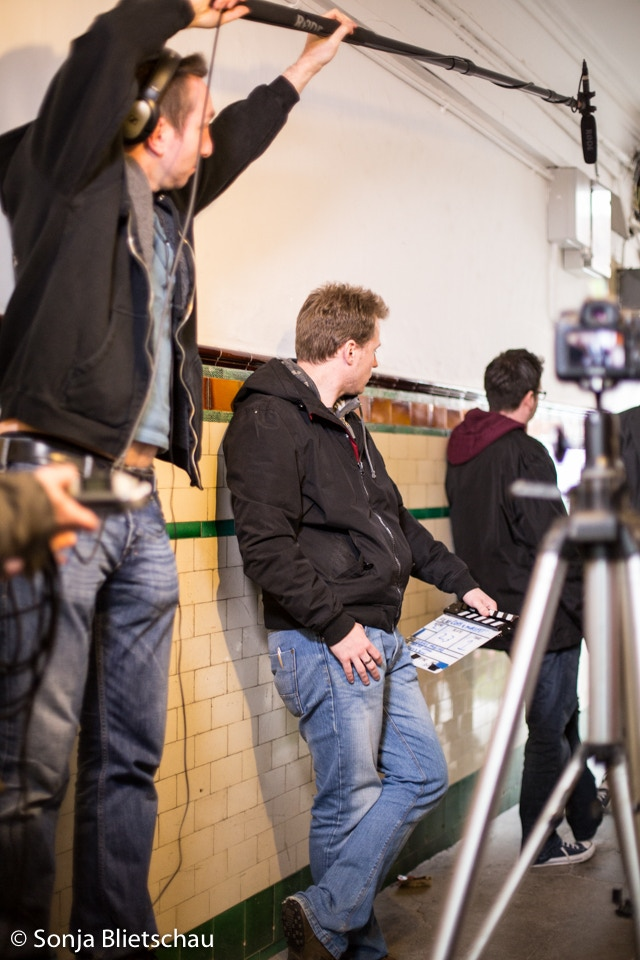 """Cast and crew hard at work shooting """"In Crimson"""""""