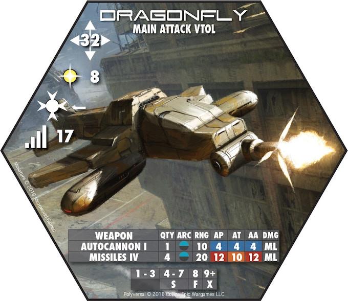 Dragonfly Main Attack VTOL - Microworld Games (Art: Bruno Werneck)