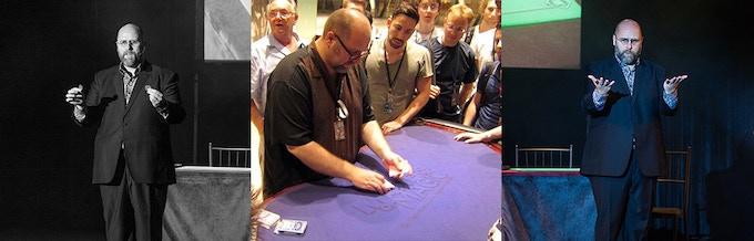 R Paul Wilson, preforming magic