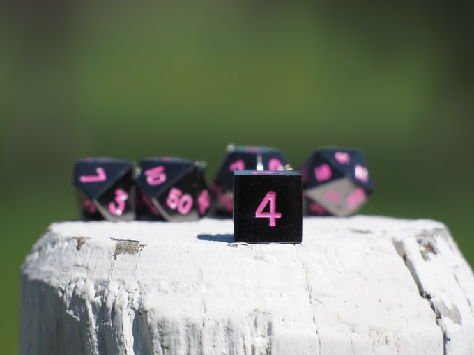 Gunmetal With Pink Numbers