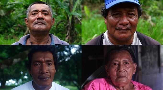 Bangkukuk Community Leaders: Jimmy McCrae, Carlos Bilis, Angela Castíllo, Edwin McCrae