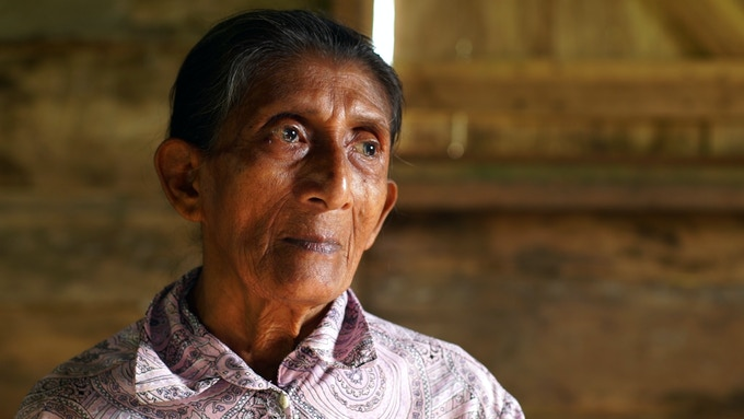 Alisia Bilis lived through war and natural disasters in Bangkukuk. She is one of the few remaining speakers of the Rama language.