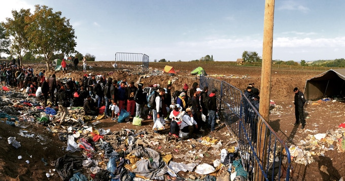 Border crossing from Serbia to Croatia