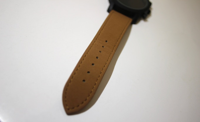 subtly textured genuine leather