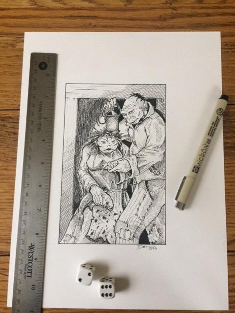 Original Quarter-Page Illustration, D. Teigeler