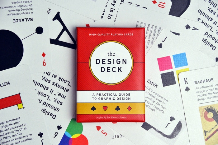 Learn graphic design while playing poker with this beautiful deck of cards. Printed on Bicycle stock. Now available at forrestgoods.com