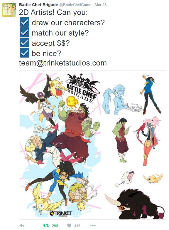 Battle Chef Brigade By Trinket Studios Kickstarter