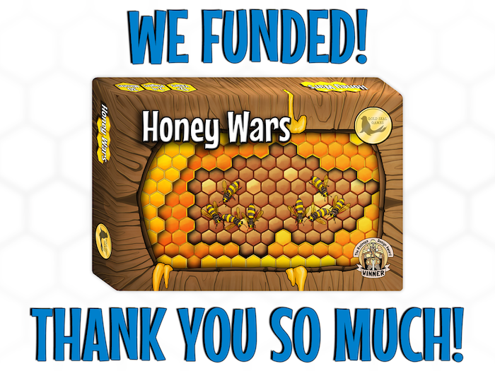 Victory never tasted so sweet! An easy-to-learn card game for 2-4 people. Defend your hives, harvest honey and WIN THE WAR!
