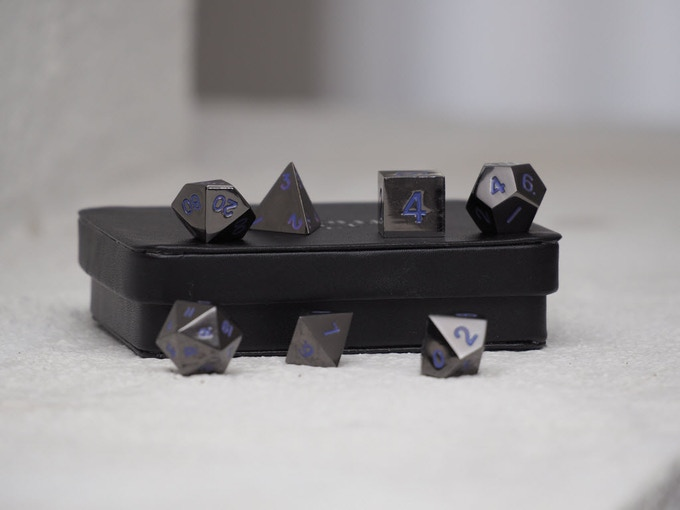 Gunmetal With Purple Numbers