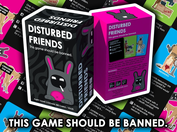 A party game designed to find out how disturbed your friends are, but, more importantly, how disturbed they think you are.