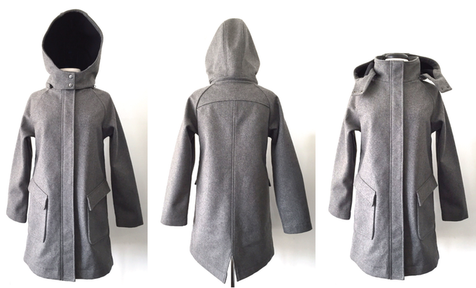 Mia Melon Olivia Coat - Light Grey