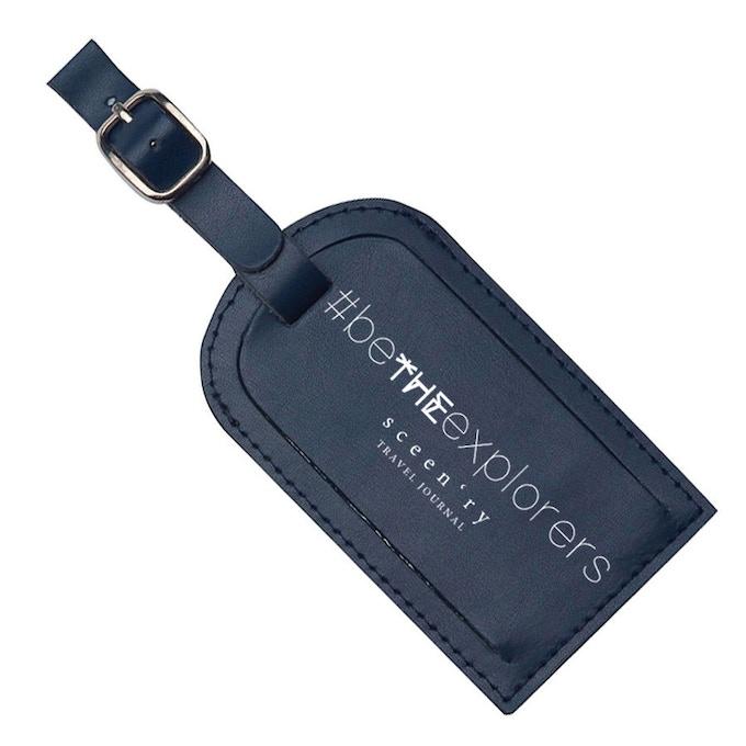 Navy Blue Luggage Tag