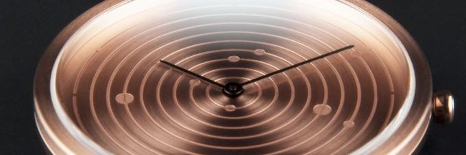 metal sun spiral ephemeris my watch my day in space by mmt kickstarter