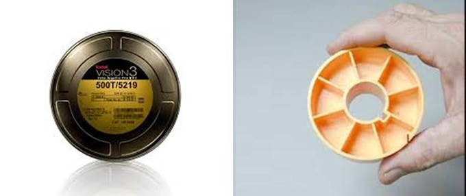 L: a film canister; R: a film core