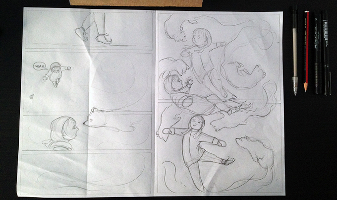 Developing the final pages.