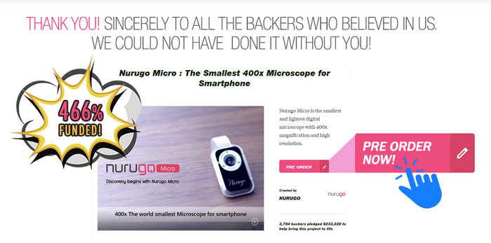 Nurugo Micro is the smallest and lightest digital microscope with 400x magnification and high resolution.