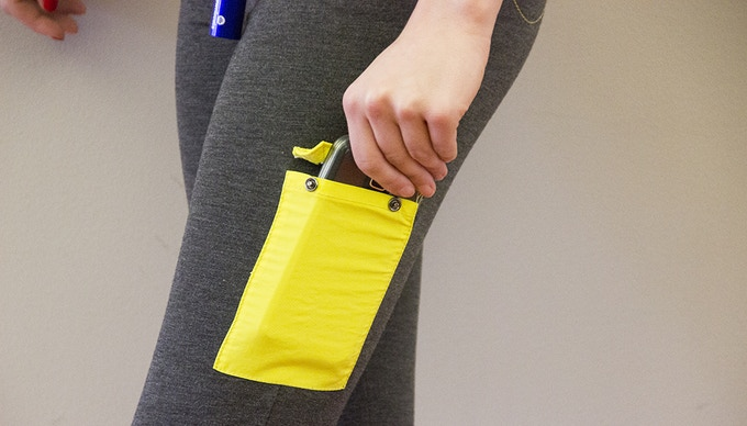 Side pocket ideal for phones