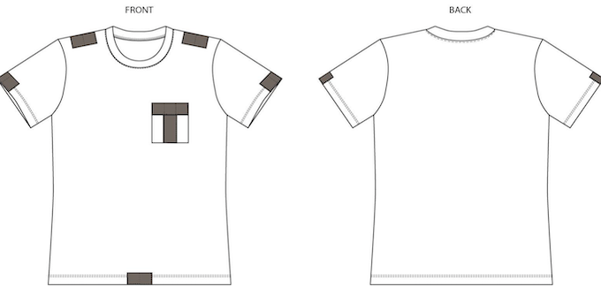 Men's shirt layout
