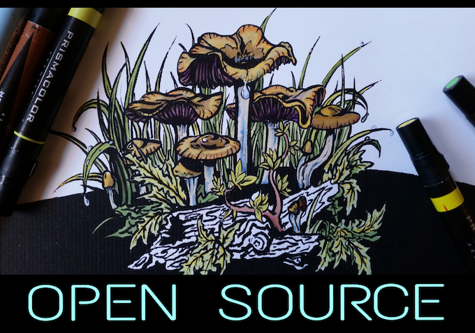 Open Source means unlimited personsl reprinting, remixing and alteration.