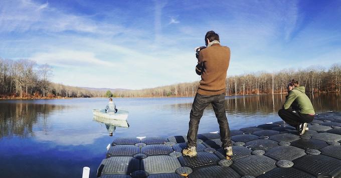 Cinematographer Dan McBride shooting on location in Pine Bush, NY