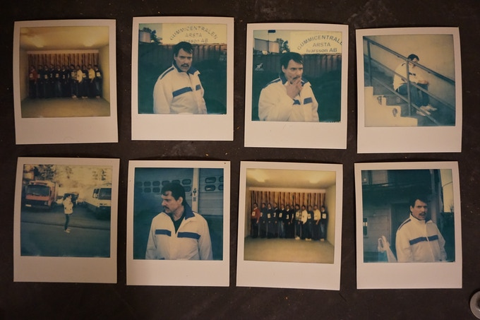 Unique polaroids from the shoot - ready to be signed and delivered
