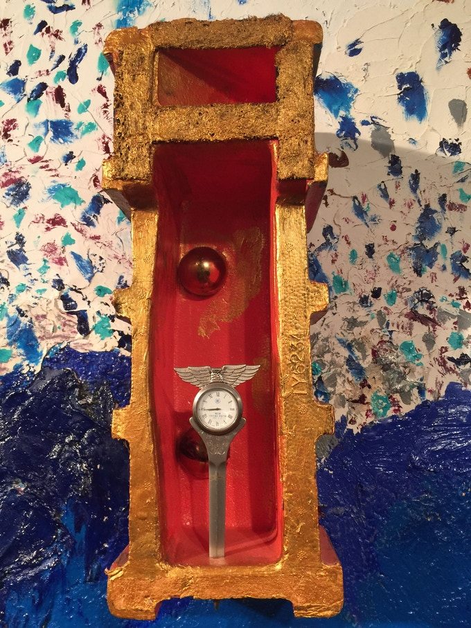 Barney's Korean letter opener, embedded in his wall, a symbol of time  running out