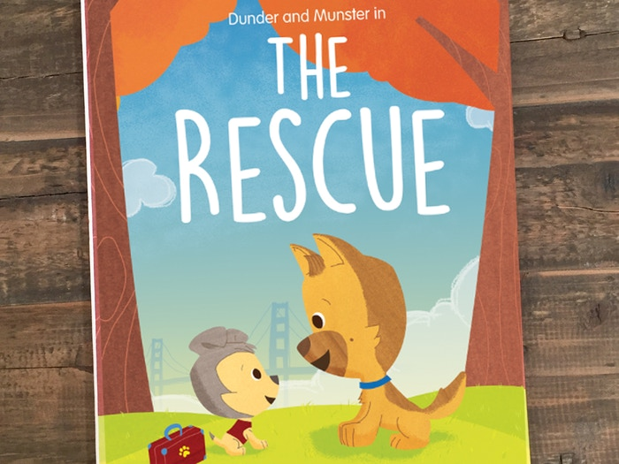 A children's book about two best friends who never would have met if it wasn't for animal rescue.