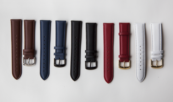 All the available leather strap options!
