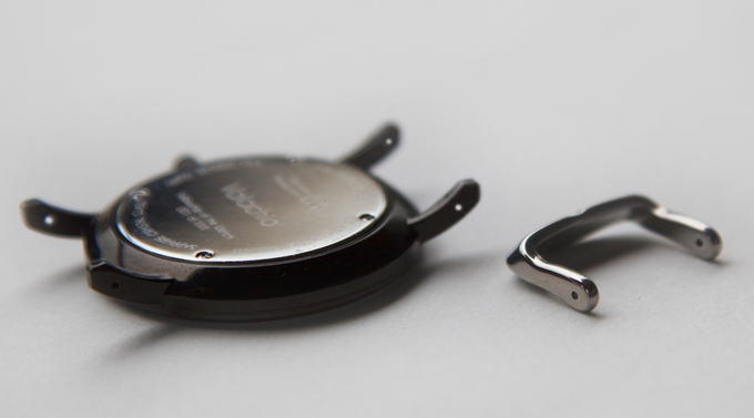 Drilled holes on both the watch's lugs and the calfskin strap's buckle