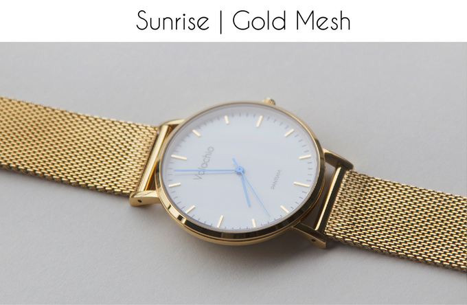 Blue hands | Gold-plated case | Gold-plated mesh