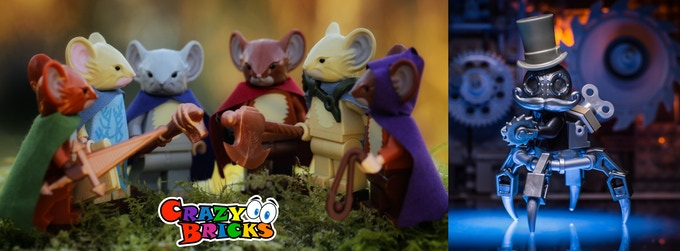 Mouse Guard and Mechtorians by Crazy Bricks