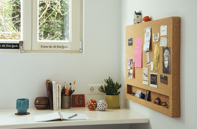 Landscape CorkFrame in a home office environment
