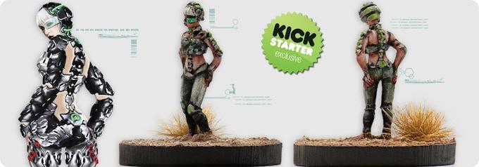"Brynhildr,  Agent of the ""System"". Kickstarter exclusive miniature."