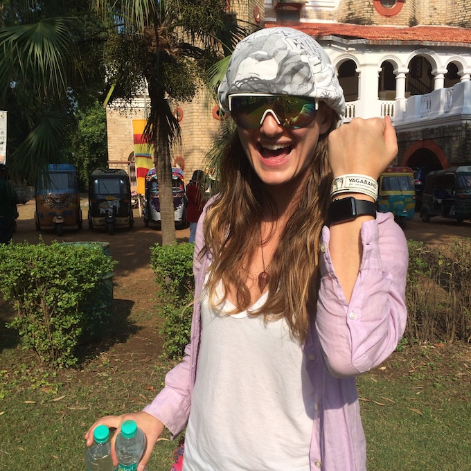 Amber in India for The Elephant Family Tuk Tuk race