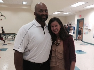 Kathryn and one of our NFL contributors