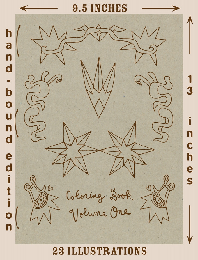 Coloring Book Volume One Cover Art