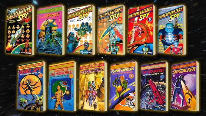 All twelve volumes of the Interplanetary Spy series